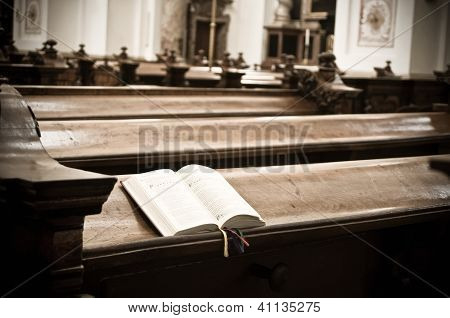 Hymnal in Church