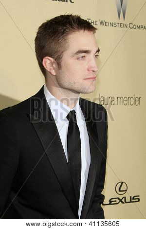 LOS ANGELES - JAN 13:  Robert Pattinson arrives at the 2013 Weinstein Post Golden Globe Party at Beverly Hilton Hotel on January 13, 2013 in Beverly Hills, CA..
