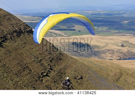 Paraglider in Brecon Beacons