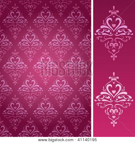 Damask pattern with swans