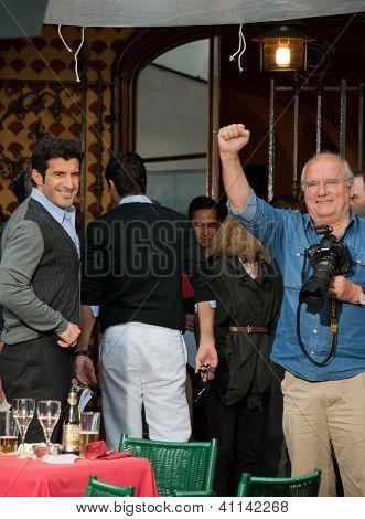 Peter Lindbergh and Lu�s Filipe Madeira Caeiro Figo