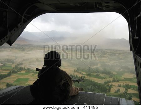 Tail Gunner View From Chinook