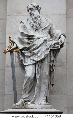 :St. Paul statue at Salzburg Cathedral, Austria