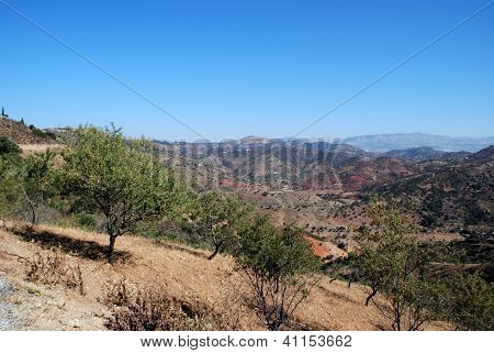 Mountain landscape, Andalusia, Spain.