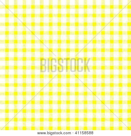 Seamless Retro White-yellow Square Tablecloth