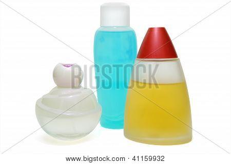 Three Parfume Flasks