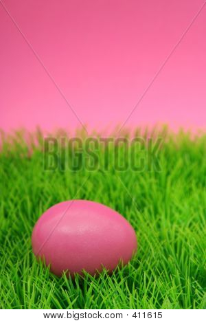 Easter Egg On Grass