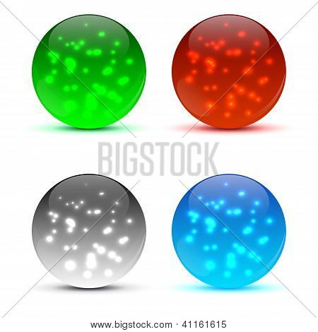 Abstract 3d icon ball