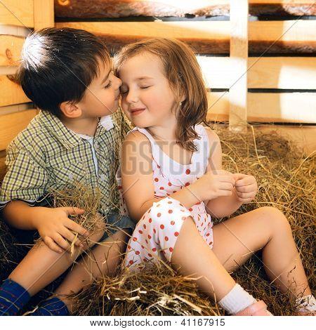 Children on Hayloft