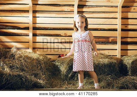 Girl on Hayloft