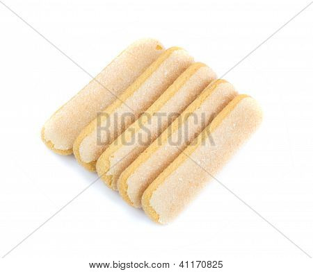 Ladyfinger Cookies Isolated