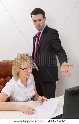 Business Debate At Office