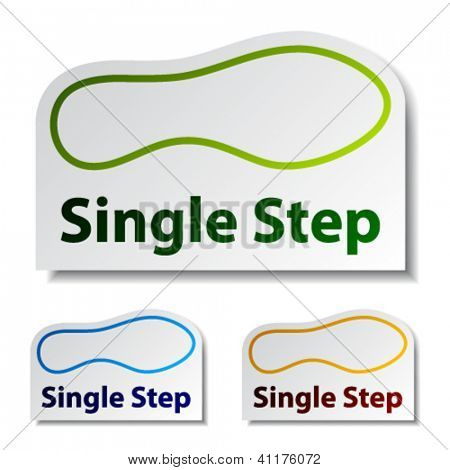 vector imprint single step stickers