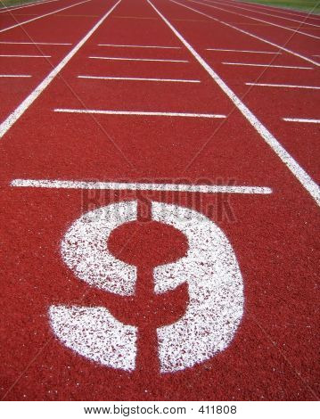 Athletic Surface Markings - Number Nine