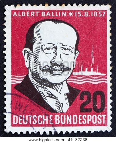 Postage Stamp Germany 1957 Albert Ballin
