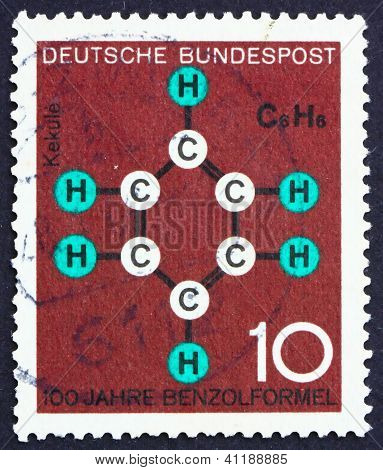 Postage Stamp Germany 1964 Benzene Ring