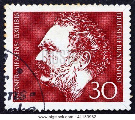 Postage Stamp Germany 1966 Werner Von Siemens