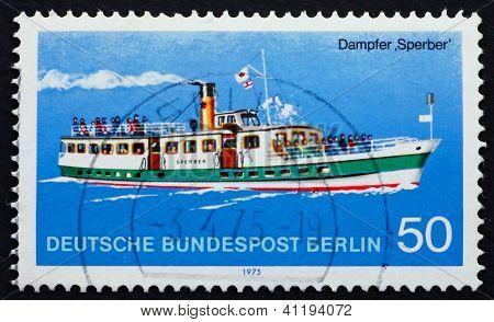 Postage Stamp Germany 1975 Steamship Sperber