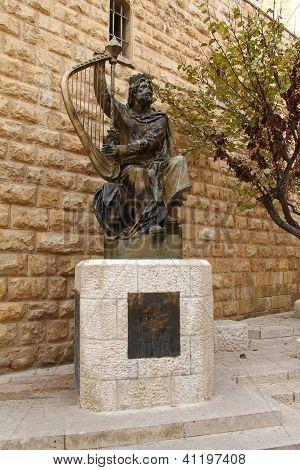 König David-Denkmal. Jerusalem. Israel