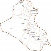Постер, плакат: Ирак контурная карта