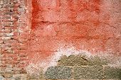 Weathered Red Wall poster