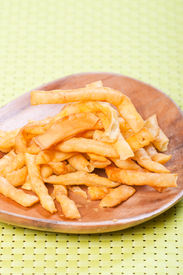 pic of pancit  - light brown fried noodles or philippine version of french fries aka shing - JPG