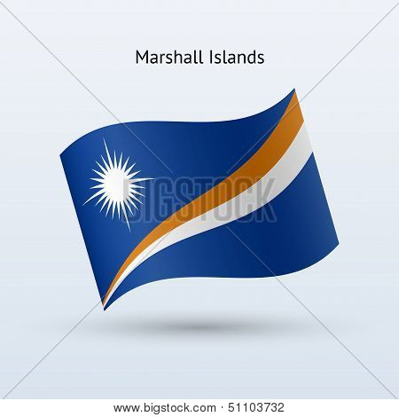 Marshall Islands flag waving form.