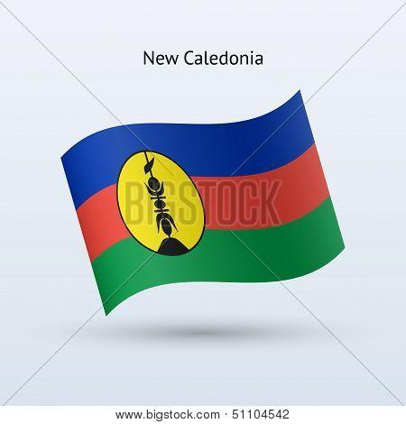 New Caledonia flag waving form.