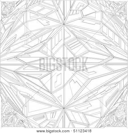 Diamond Crystal Geometric Pattern Structure Vector