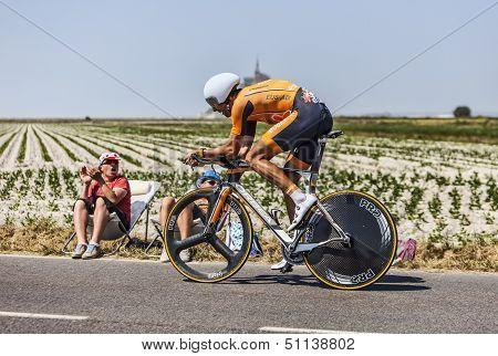 The Cyclist Mikel Astarloza Chaurreau