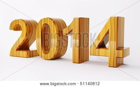 2014 Year 3D Render
