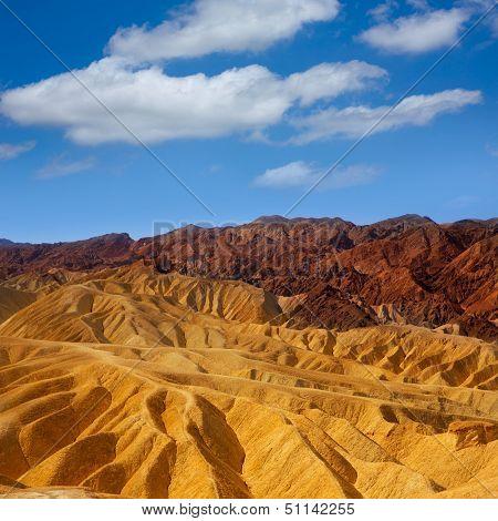 Death Valley National Park California Zabriskie point eroded mudstones