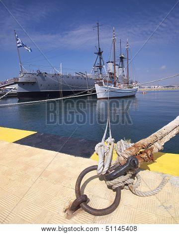 old battleship Averoff of the royal Greek navy
