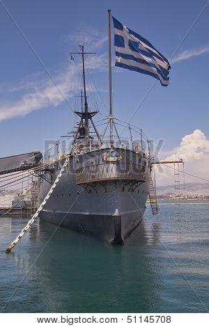 battleship Averoff of the royal Greek navy