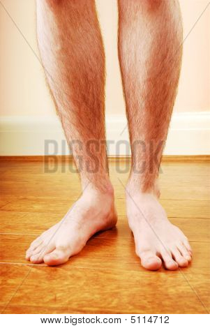 A Man's Naked Legs