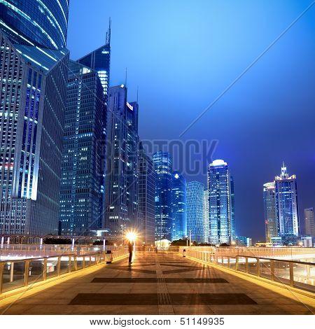 Night Scene On The Flyover In Shanghai