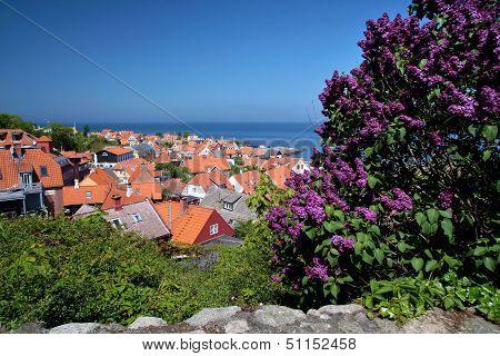 View Of Gudhjem On Bornholm