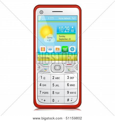 Smartphone With Physical Keyboard. Vector.