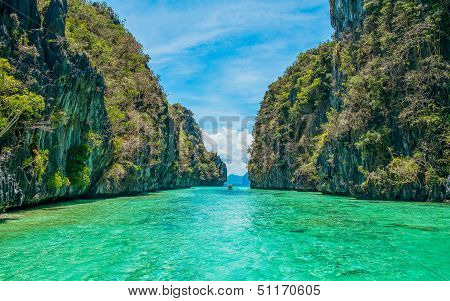 Tropical Landscape With Cristal Clear Water