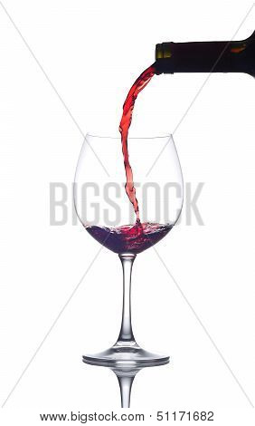 Wine Pouring On Glass