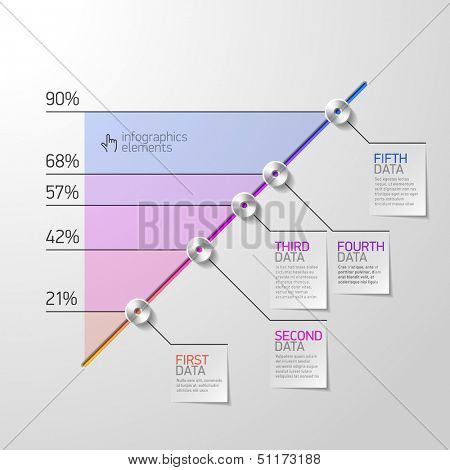 Business diagram infographics element. Vector.