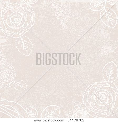 Abstract Vintage Rose Background