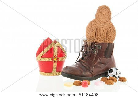 Child shoe with Dutch Sinterklaas candy