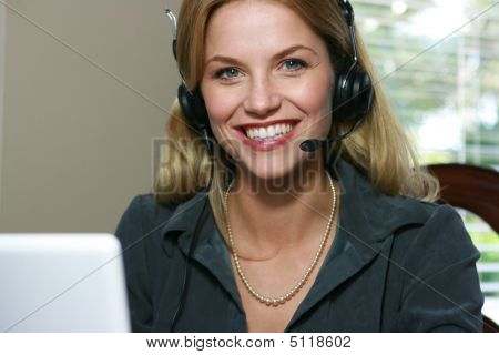 Attractive Customer Service Representative