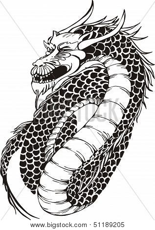Powerful Oriental Dragon