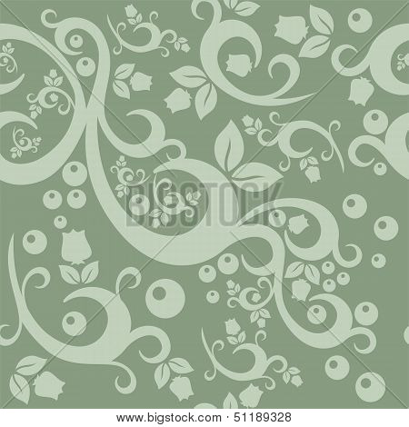 Elegant Floral Vintage  Pattern Background For Your Design