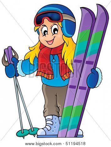Skiing theme image 1 - eps10 vector illustration.