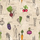stock photo of beet  - Seamless kitchen background of vegetables - JPG
