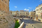 JERUSALEM - AUGUST 21: Street among houses and Tower of David - medieval fortress located near Jaffa