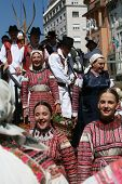 ZAGREB,CROATIA - JULY 17: Members of folk groups from Bistra in Croatia national costume during the